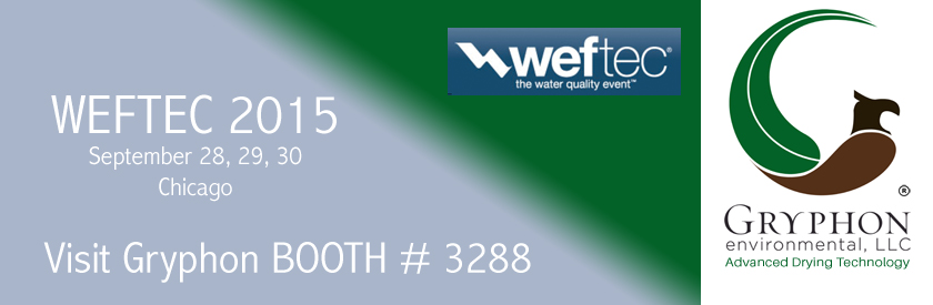 Gryphon Dryer at WEFTEC 2015